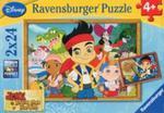Puzzle Disney Jake i poszukiwanie skarbów 2x24 w sklepie internetowym Booknet.net.pl