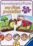 Puzzle Moje pierwsze puzzle Zwierzęta na farmie 9x2 w sklepie internetowym Booknet.net.pl
