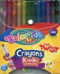 Kredki świecowe wykręcane Colorino 12 kolorów w sklepie internetowym Booknet.net.pl