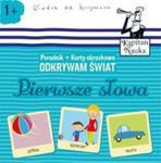 Odkrywam świat Pierwsze słowa Książka + Karty obrazkowe w sklepie internetowym Booknet.net.pl
