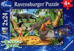 Puzzle Disney Księga dżungli 2x24 w sklepie internetowym Booknet.net.pl