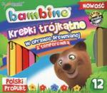 Kredki Bambino drewniane trójkątne 12 kolorów + temperówka w sklepie internetowym Booknet.net.pl