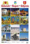Kalendarz ścienny 2016 Gdańsk Sopot Gdynia w sklepie internetowym Booknet.net.pl