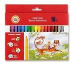 Flamastry zmywalne 18 kolorów w sklepie internetowym Booknet.net.pl