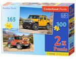 Puzzle Samochody terenowe 165 i 300 2 w 1 w sklepie internetowym Booknet.net.pl