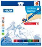 Kredki trójkątne Rubber touch 24 kolory w kartonowym opakowaniu w sklepie internetowym Booknet.net.pl