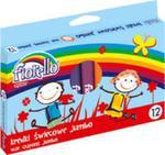 Kredki świecowe Jumbo okrągłe 14 mm 12 kolorów w sklepie internetowym Booknet.net.pl