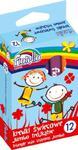 Kredki świecowe Jumbo trójkątne10 mm 12 kolorów w sklepie internetowym Booknet.net.pl