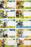 Naklejki szkolne na zeszyty Madagaskar 10 sztuk w sklepie internetowym Booknet.net.pl