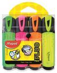 Zakreślacz fluo peps mix kolorów 4 szt etui w sklepie internetowym Booknet.net.pl