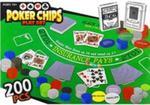 Zestaw do gry w Pokera Mata 200pcs karty żetony w sklepie internetowym Booknet.net.pl