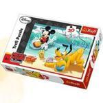 Myszka Miki i Przyjaciele Puzzle 30 Miki i Pluto na plaży w sklepie internetowym Booknet.net.pl