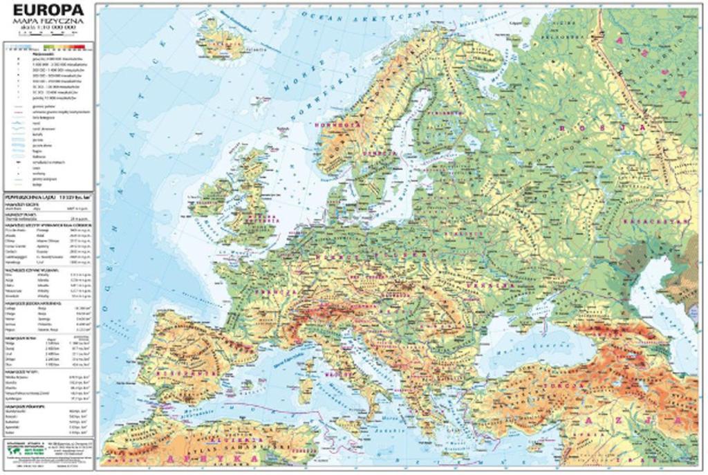 Mapa Europa Polityczna Najtansze Sklepy Internetowe