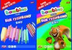 Blok rysunkowy A4 Bambino Plus 20 kartek 10 sztuk mix w sklepie internetowym Booknet.net.pl