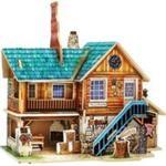 Puzzle 3D Drewniany dom w sklepie internetowym Booknet.net.pl