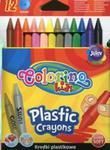 Kredki świecowe okrągłe plastikowe Colorino kids 12 kolorów w sklepie internetowym Booknet.net.pl