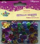 Cekiny metaliczne mix wzorów 14g mix kolorów w sklepie internetowym Booknet.net.pl