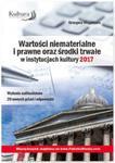 Wartości niematerialne i prawne oraz środki trwałe w instytucjach kultury 2017 w sklepie internetowym Booknet.net.pl