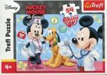 Puzzle 54 Mini Myszka Miki i Przyjaciele Miki i Pluto w sklepie internetowym Booknet.net.pl