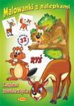 Malowanki z nalepkami - Leśne zwierzęta Ryś w sklepie internetowym Booknet.net.pl