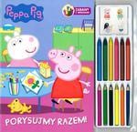 Peppa Pig. Porysujmy razem. Zabawa z kredkami. 12 kredek + naklejki w sklepie internetowym Booknet.net.pl