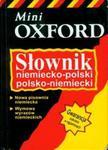 Słownik niemiecko-polski polsko-niemiecki Mini Oxford w sklepie internetowym Booknet.net.pl
