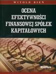 Ocena efektywności finansowej spółek kapitałowych w sklepie internetowym Booknet.net.pl