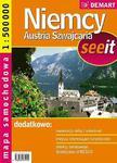 Niemcy, Austria, Szwajcaria. Mapa samochodowa 1:500 000 w sklepie internetowym Booknet.net.pl