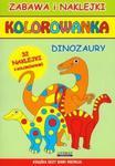 Kolorowanka dinozaury + naklejki w sklepie internetowym Booknet.net.pl