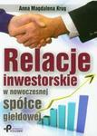 Relacje inwestorskie w nowoczesnej spółce giełdowej w sklepie internetowym Booknet.net.pl