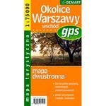 Okolice Warszawy wschód mapa turystyczna 1:75 000 w sklepie internetowym Booknet.net.pl