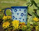 Kubek rękodzieło Ceramika Artystyczna Woźniak kolor niebieski w sklepie internetowym Uroda stolu
