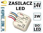 LEDIX Zasilacz LED dopuszkowy 14V DC 2W TYP: ZNP-02-14 w sklepie internetowym E-kupiec.com.pl