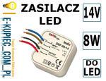 LEDIX Zasilacz LED dopuszkowy 14V DC 8W TYP: ZNP-08-14 w sklepie internetowym E-kupiec.com.pl