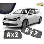 Zasłonki / roletki / osłony przeciwsłoneczne dedykowane do VW Volkswagen Golf 6 2008-2012 (Zasłonki drzwi i klapy) w sklepie internetowym Autozaslonki.com