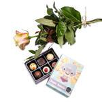 Czekoladki: Róża i czekoladki dla Super Ba w sklepie internetowym Chocolissimo.pl