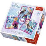 Puzzle 3w1 - Zimowa magia - Frozen w sklepie internetowym MojeKlocki24.pl