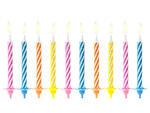 Świeczki urodzinowe mix kolorów - 10 szt. w sklepie internetowym Partyshop Congee.pl