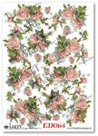 Papier do decoupage Asket ED 064 Róże, niezapominajki i motyle - kochają wiosenne chwile w sklepie internetowym Serwetnik.pl