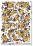 Papier do decoupage Asket ED 066 Żółte róże, fiołki, motyle - kochają wiosenne chwile w sklepie internetowym Serwetnik.pl