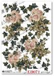Papier do decoupage Asket ED 071 Róże bluszczem otulone w sklepie internetowym Serwetnik.pl