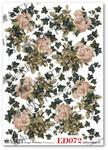 Papier do decoupage Asket ED 072 Róże bluszczem otulone w sklepie internetowym Serwetnik.pl