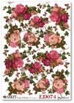 Papier do decoupage Asket ED 074 Róże bluszczem otulone II w sklepie internetowym Serwetnik.pl