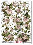 Papier do decoupage Asket ED 158 Róże w bluszcze otulone w sklepie internetowym Serwetnik.pl