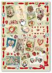 Papier do decoupage Calambour EASY 263 Miłość w stylu retro w sklepie internetowym Serwetnik.pl