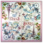 Paryż forever z rowerem ukwieconym R2S serwetka do decoupage w sklepie internetowym Serwetnik.pl