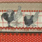 Kogut i kura w czerwonym nastroju serwetka do decoupage w sklepie internetowym Serwetnik.pl
