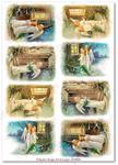 Papier ryżowy do decoupage Aquita AD0060 Skrzydlate anioły w sklepie internetowym Serwetnik.pl