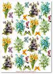 Papier ryżowy do decoupage Aquita AD0115 Kwiatki wiosenne w motylków miłym towarzystwie mini w sklepie internetowym Serwetnik.pl