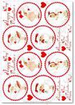 Papier ryżowy do decoupage Aquita AD0341 Happy Valentine's Day midi w sklepie internetowym Serwetnik.pl